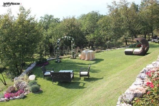 Allestimento del giardino per le cerimonie di matrimonio for Allestimento giardino matrimonio
