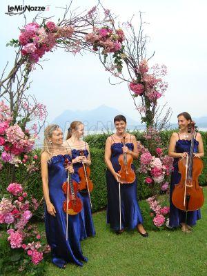 Violino e violoncello per la musica del matrimonio