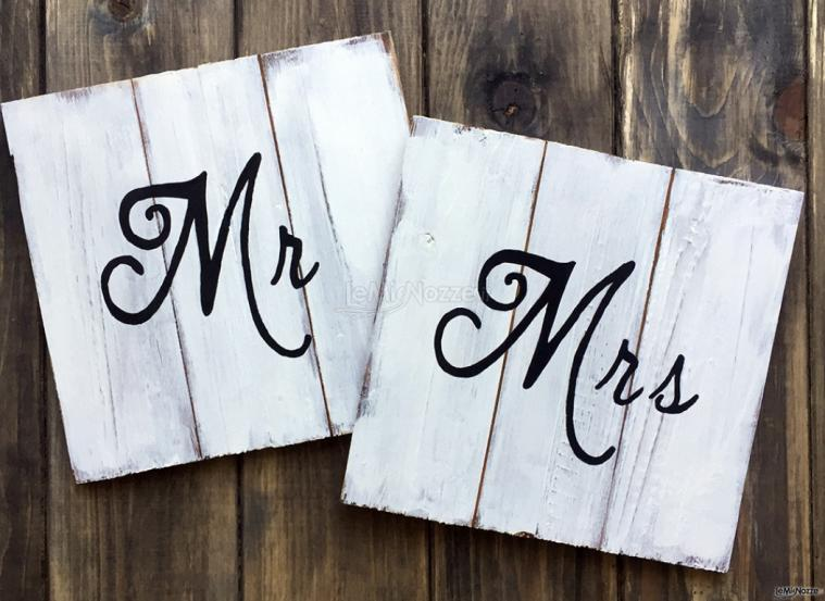 Photo Table Home Made - Insegne in legno Mr Mrs