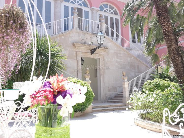 Villa Ciardi - Le scalinate degll'ingresso