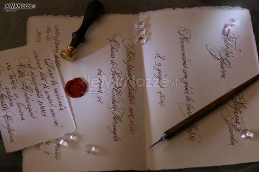Matrimonio In Inglese : Inviti di matrimonio scritti a mano in elegante corsivo