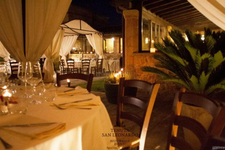 Tenuta San Leonardo - L'allestimento serale all'esterno