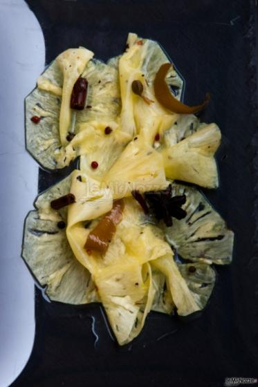 Parco Gambrinus - Carpaccio d'ananas marinato alle spezie indiane e prosecco bio