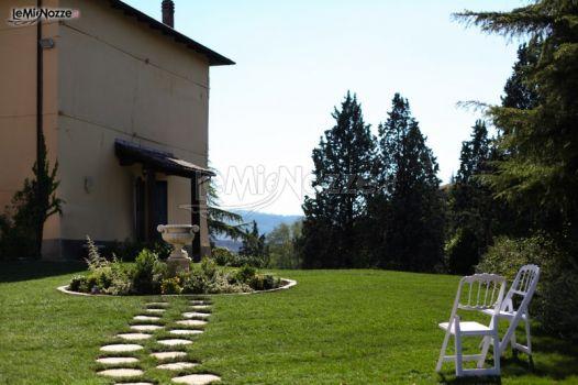 Giardino della villa per il matrimonio