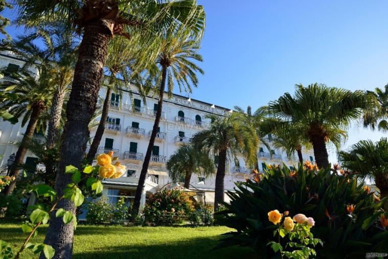Royal Hotel Sanremo - Vista della location dal giardino