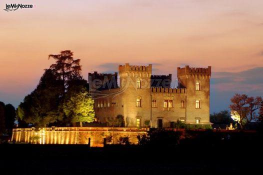 Ricevimento serale in un castello