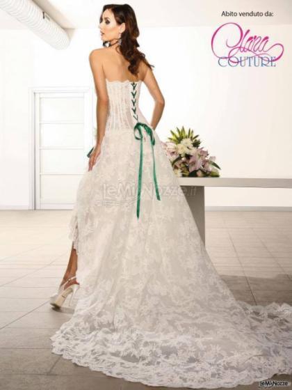 Foto 594 - Abiti da sposa classici - Abito con nastro verde - Clara ... fac149ac1155