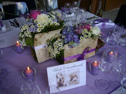 Matrimonio In Lilla : Foto centrotavola matrimonio matrimonio a tema lilla