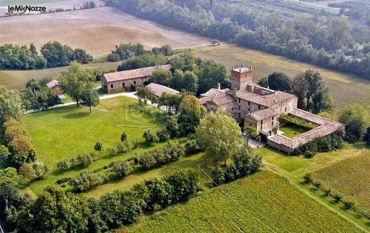 Veduta aerea della location di matrimonio - Palazzo di Cuzzano