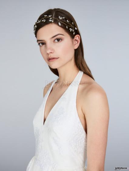 Max Mara Bridal - Abito jacquard bianco