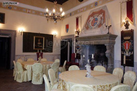 Sala con camino per il matrimonio castello colonna foto 4 for Sala con camino