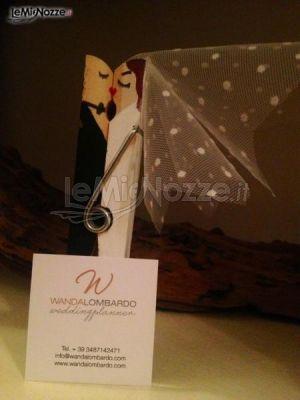 Segnaposto artigianale della wedding planner Wanda Lombardo a Catania